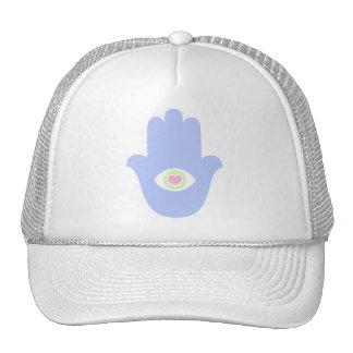 Fatima Eye Heart Hamsa Trucker Hats