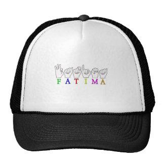 FATIMA NAME ASL FINGER SPELLED TRUCKER HAT