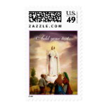 Fatima, our lady of stamp