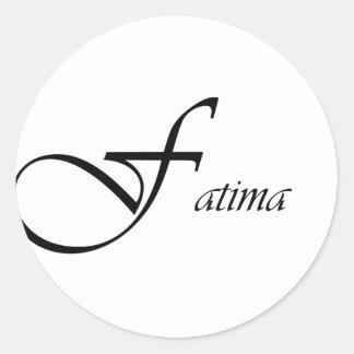 Fatima Round Stickers