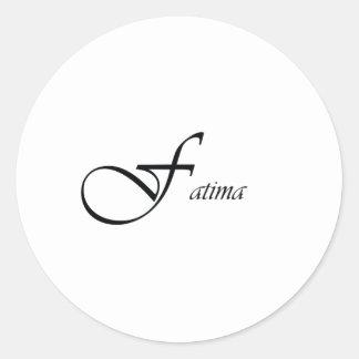 Fatima Round Sticker