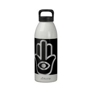 Fatima's Hand- Khamsa religious symbol Water Bottles