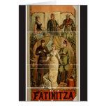 Fatinitza Vintage Theater Greeting Card
