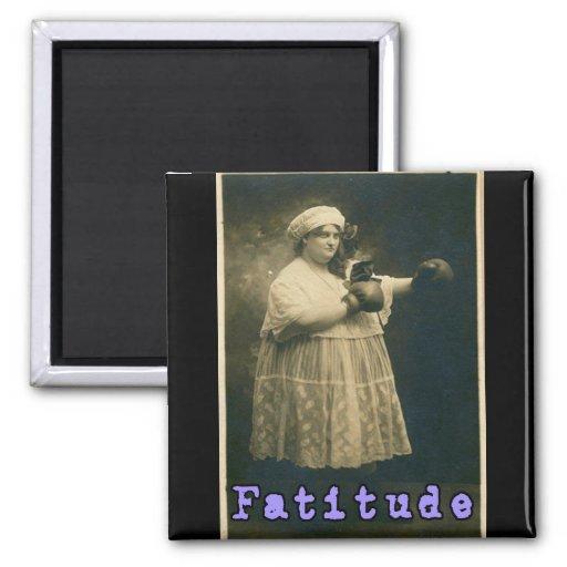 ¡Fatitude! Imán Cuadrado