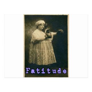 Fatitude! Postcard