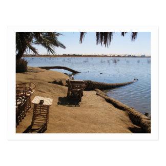Fatnas Island, Siwa Oasis, Africa Postcard