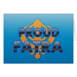 Fatra orgulloso orgullo de Fatra Tarjetas