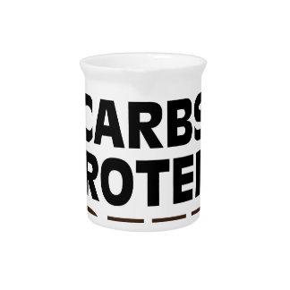 Fats Carbs Protein Coffee Pitcher