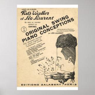 Fats Waller, Original Piano Swing Conceptions Poster