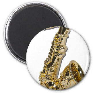 FatSaxophone040311 2 Inch Round Magnet