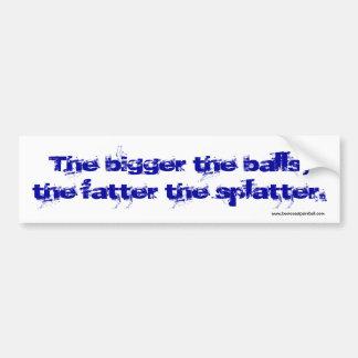 Fatter Splatter Bumper Sticker