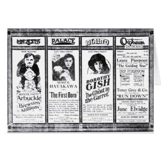 Fatty Arbuckle 1921 vintage movie ad card