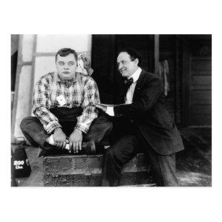 Fatty Arbuckle & Harry Houdini Postcard