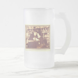 Fatty Arbuckle His Wife's Mistake 1916 Frosted Glass Beer Mug