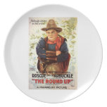 Fatty Arbuckle The Round Up 1920 movie poster Party Plates
