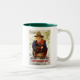 Fatty Arbuckle The Round Up 1920 movie poster Two-Tone Coffee Mug