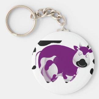 Fatty Big Cow Basic Round Button Keychain