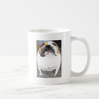 fatty bulldog classic white coffee mug