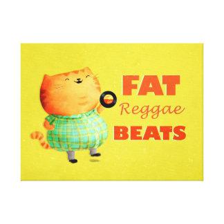 Fatty Fatty Fat Reggae Cat Gallery Wrap Canvas
