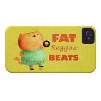 Fatty Fatty Fat Reggae Cat iPhone 4 Case-Mate Case