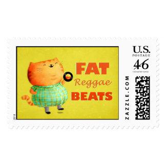 Fatty Fatty Fat Reggae Cat Postage Stamp