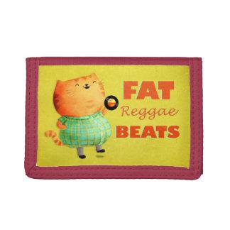 Fatty Fatty Fat Reggae Cat Tri-fold Wallets