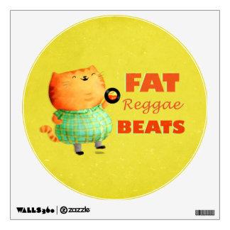 Fatty Fatty Fat Reggae Cat Wall Sticker