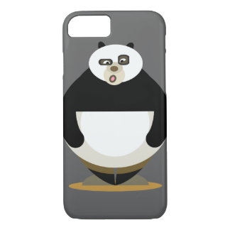 Fatty Panda with wierd face iPhone 7 Case