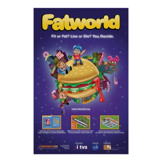 Fatworld Game Poster