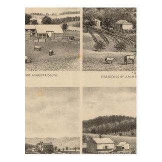 Fauber, Randolph, Dudley, residencias de Mish Postales