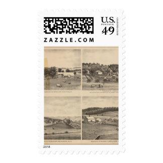 Fauber, Randolph, Dudley, residencias de Mish Timbre Postal