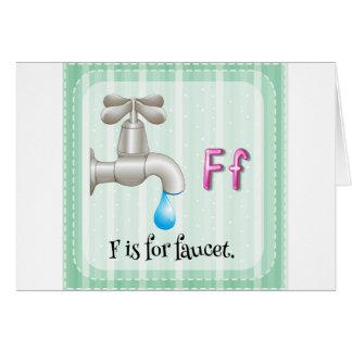 Faucet Greeting Card