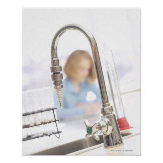 Faucet in classroom poster