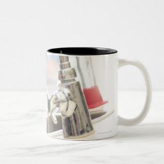 Faucet in classroom Two-Tone coffee mug