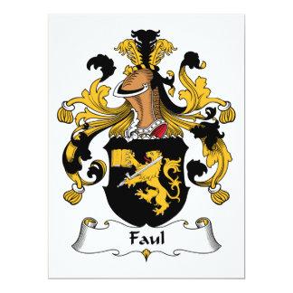 Faul Family Crest 6.5x8.75 Paper Invitation Card
