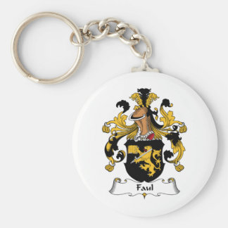 Faul Family Crest Basic Round Button Keychain