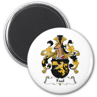 Faul Family Crest 2 Inch Round Magnet