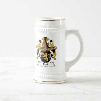 Faul Family Crest 18 Oz Beer Stein