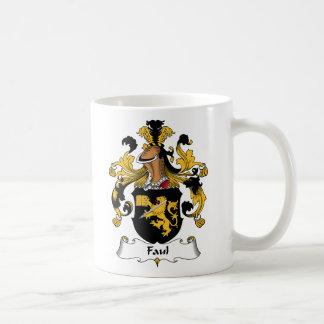Faul Family Crest Classic White Coffee Mug