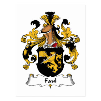 Faul Family Crest Postcard