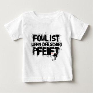 faul ist wenn der schiri pfeift infant t-shirt