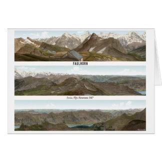 FAULHORN Swiss Alps Panorama 360° Card