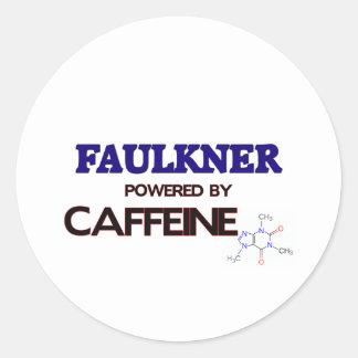 Faulkner accionó por el cafeína pegatina redonda