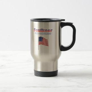Faulkner para la bandera americana patriótica del  taza de viaje de acero inoxidable
