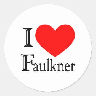 Faulkner Pegatina Redonda