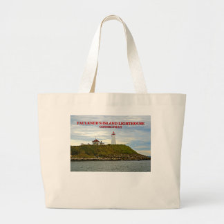 Faulkners Island Lighthouse, Connecticut Large Tote Bag