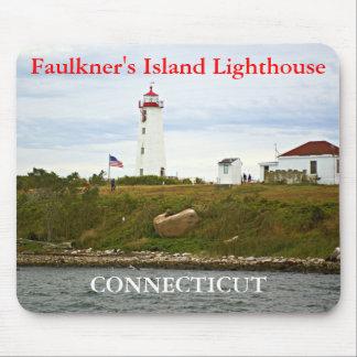 Faulkner's Island Lighthouse, Connecticut Mousepad