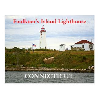 Faulkner's Island Lighthouse, Connecticut Postcard