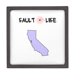 Fault Life California Earthquake Lifestyle Jewelry Box