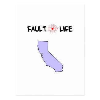 Fault Life California Earthquake Lifestyle Postcard